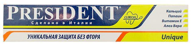 Zubnaya-pasta-PRESIDENT-Unique-e1542297300227 Рейтинг ТОП 7 лучших лечебных зубных паст: плюсы и минусы, характеристики, отзывы, цены%obz