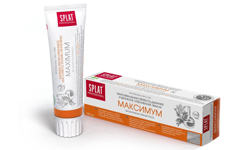 maximum_splat_professional-e1542297254391 Рейтинг ТОП 7 лучших лечебных зубных паст: плюсы и минусы, характеристики, отзывы, цены%obz