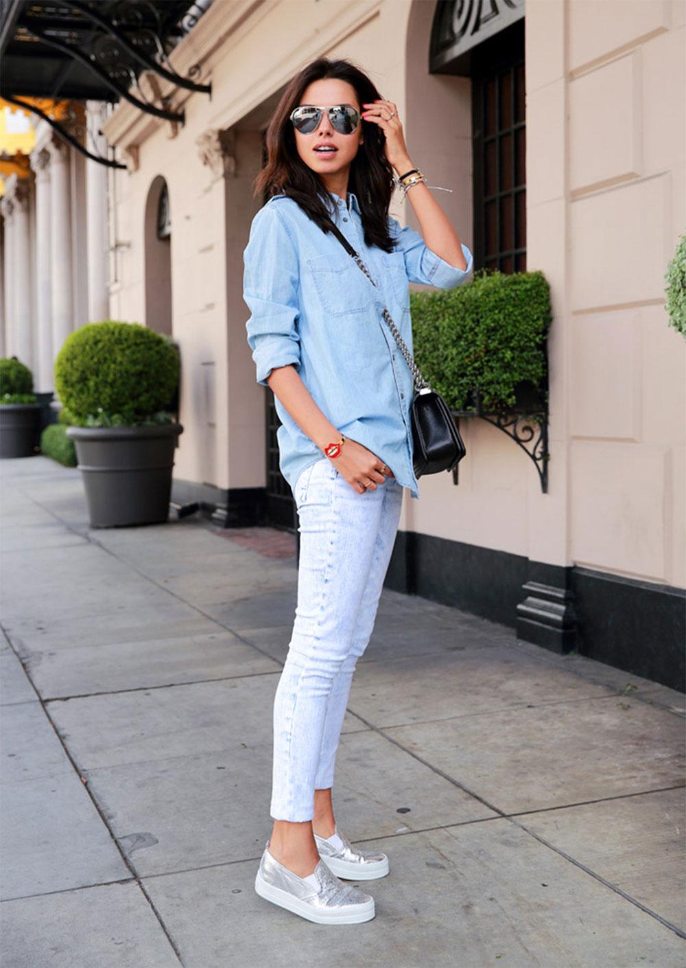 867be22cc white-denim-metallic-shoes-min Модные женские ботинки на сезоны осень,